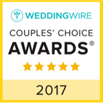 WeddingWire 2017 Couples' Choice Award 5-Star