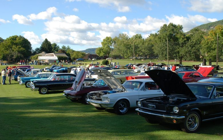 Annual Vintage Tin Car Show Rumbling Bald Resort On Lake Lure NC - Muscle car shows near me