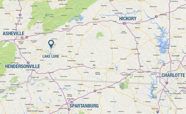 Lake Lure Nc Map Directions to Rumbling Bald on Lake Lure, NC | Lake Lure Vacation